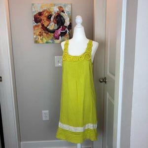0212 Anthropologie Edme & Esyllie yellow dress sm